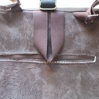 kleiner Rucksack/ Backpack/ Foldover/ Leder/ Unikat Bild 4
