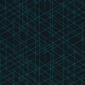 17,90EUR/m French Terry Streetstyle Linien in schwarz/türkis by Lycklig Design Bild 1