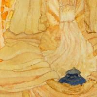 Meditierender Buddha - Original Aquarellmalerei, gerahmtes Unikat Bild 4