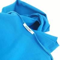 Großes, kuschliges Dreiecktuch / Schultertuch in Blau aus Sweatstoff in zertifizierter Qualität.  Bild 3