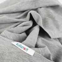Großes, kuschliges Dreiecktuch / Schultertuch in Grau aus Sweatstoff in zertifizierter Qualität Bild 3