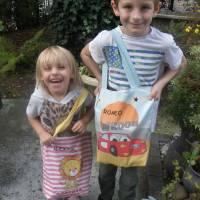 Kindergartentasche aus Canvas / Wechselwäsche / Schule / Kindergarten / Besuch bei Oma und Opa / personalisierbar Bild 1