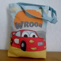 Kindergartentasche aus Canvas / Wechselwäsche / Schule / Kindergarten / Besuch bei Oma und Opa / personalisierbar Bild 2