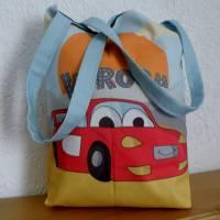 Kindergartentasche aus Canvas / Wechselwäsche / Schule / Kindergarten / Besuch bei Oma und Opa / personalisierbar Bild 4