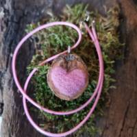 Herzkette Filz Schwarznuss  Bild 5
