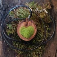 Herzkette Filz Schwarznuss  Bild 7