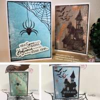 Digi-Papier Spinnweben, Halloween-Papier für Plotter, Schneidedatei Spinnennetz, 36 mal digitales Papier für Halloween Bild 10