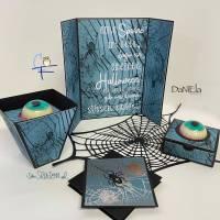 Digi-Papier Spinnweben, Halloween-Papier für Plotter, Schneidedatei Spinnennetz, 36 mal digitales Papier für Halloween Bild 6