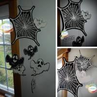 Digi-Papier Spinnweben, Halloween-Papier für Plotter, Schneidedatei Spinnennetz, 36 mal digitales Papier für Halloween Bild 8