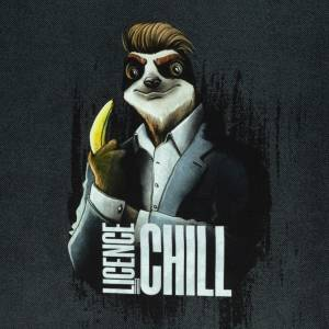 """18,62EUR/m French Terry Panel """"Licence to Chill"""" by Thorsten Berger  Faultier Bild 1"""