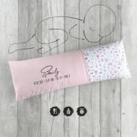 Geburtskissen mit Echtmaßen *Smooth Line*   Rosa Blümchen Bild 1