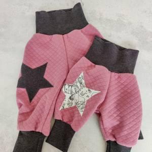 Baby Pumphose  aus Steppstoff  in rosa Bild 1
