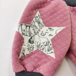 Baby Pumphose  aus Steppstoff  in rosa Bild 3