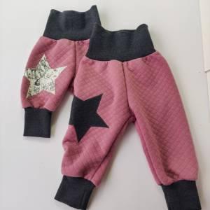 Baby Pumphose  aus Steppstoff  in rosa Bild 6