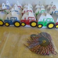 Adventskalender Traktor Weihnachtskalender Kinder Junge Zierschachteln Schachteln zum Befüllen Landwirtschaft Bild 2