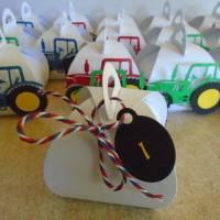 Adventskalender Traktor Weihnachtskalender Kinder Junge Zierschachteln Schachteln zum Befüllen Landwirtschaft Bild 4