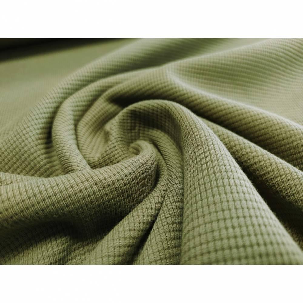 0,5m Baumwollstrick Khaki Bild 1