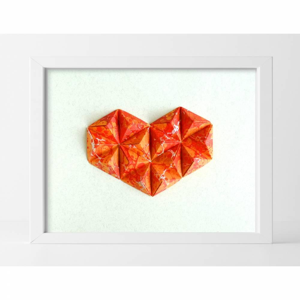 3D Herz // Origami-Herz Objektrahmen Bild 1