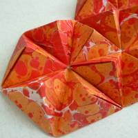 3D Herz // Origami-Herz Objektrahmen Bild 3