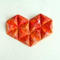 3D Herz // Origami-Herz Objektrahmen Bild 4