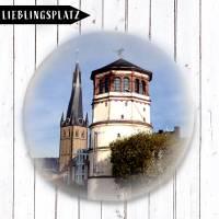 Düsseldorfer Schlossturm & Sankt Lambertus Button  Bild 1