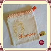 """Seifenbeutel Motiv  """"Shampoo"""" - Perfekt für Einkauf und Aufbewahrung  Bild 1"""