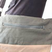 Seesacktasche / Ledertasche / Upcycling / Foldover /  Umhängetasche / Schultertasche / Recycling / Handtasche / Unikat Bild 6