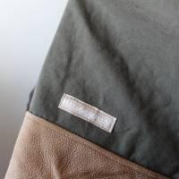 Seesacktasche / Ledertasche / Upcycling / Foldover /  Umhängetasche / Schultertasche / Recycling / Handtasche / Unikat Bild 7