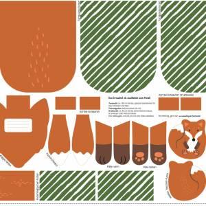 13,50EUR/Stück Webware/Canvas Panel Tierbeutel by Käselotti - FUCHS Bild 2