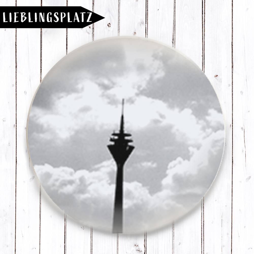 Rheinturm.Wolken Magnet Bild 1