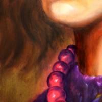 Ihr Wunschtraum – Original Ölmalerei im Schattenfugenrahmen • Unikat Bild 3
