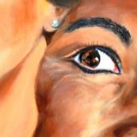 Ihr Wunschtraum – Original Ölmalerei im Schattenfugenrahmen • Unikat Bild 4