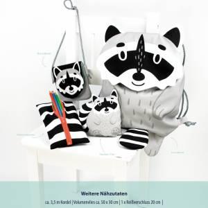 13,50EUR/Stück Webware/Canvas Panel Tierbeutel by Käselotti - WASCHBÄR Bild 2
