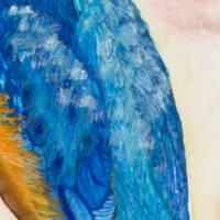 Eisvogel - Original Aquarellmalerei, gerahmtes Unikat Bild 2