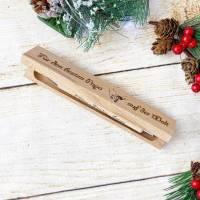 Personalisierter Kugelschreiber mit einer gravierten Holzbox, Weihnachtsgeschenk für den besten Papa (oder auch Mama) Bild 2