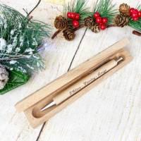 Personalisierter Kugelschreiber mit einer gravierten Holzbox, Weihnachtsgeschenk für den besten Papa (oder auch Mama) Bild 3
