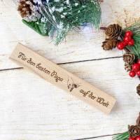 Personalisierter Kugelschreiber mit einer gravierten Holzbox, Weihnachtsgeschenk für den besten Papa (oder auch Mama) Bild 4