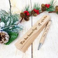 Personalisierter Kugelschreiber mit einer gravierten Holzbox, Weihnachtsgeschenk für den besten Papa (oder auch Mama) Bild 5