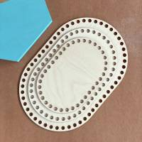 Ovale Häkelböden in verschiedenen Größen (20 / 25 / 30 cm) Bild 1