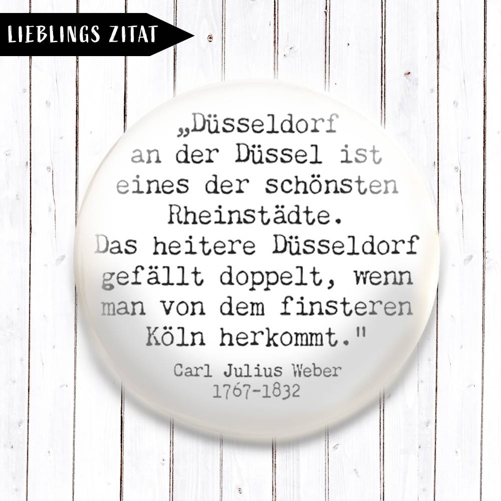 Zitat Carl Julius Weber Magnet  Bild 1