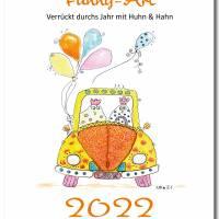 Kalender 2022 Monatskalender Verrückte Hühner, Din A5, Wandkalender  Bild 1