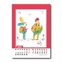 Kalender 2022 Monatskalender Verrückte Hühner, Din A5, Wandkalender  Bild 6