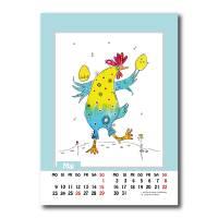 Kalender 2022 Monatskalender Verrückte Hühner, Din A5, Wandkalender  Bild 7