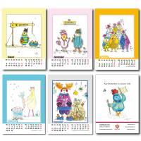 Kalender 2022 Monatskalender Verrückte Hühner, Din A5, Wandkalender  Bild 9