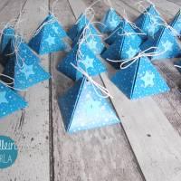 """Adventskalender """"Blaue Pyramiden"""" aus der Manufaktur Karla Bild 4"""