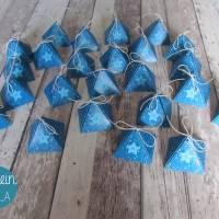 """Adventskalender """"Blaue Pyramiden"""" aus der Manufaktur Karla Bild 6"""