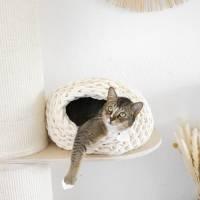 Katzenhöhle oder Hundehöhle aus reiner Naturschurwolle Bild 2