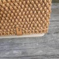 Stirnband mit Twist handgestrickt - Wolle (Merino) - camel Bild 3