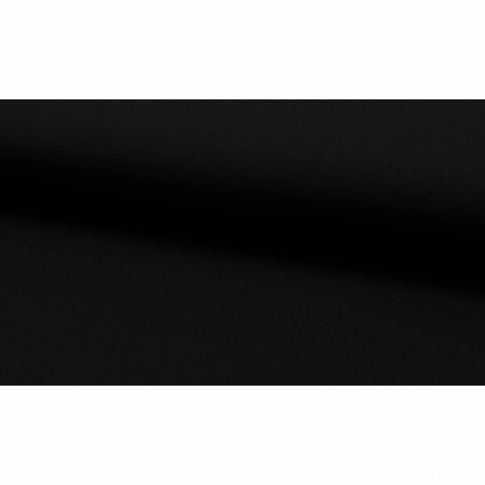 9,98EUR/m Viskosejersey uni schwarz Kombistoff Bild 1