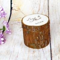 Hochzeit Ringkissen aus Holz mit Wunschgravur auf dem Deckel Bild 3